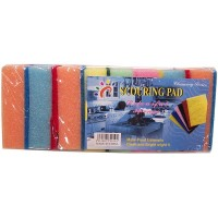 8pk Sponge with Nylon Scouring Pad