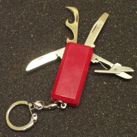 "2"" 4 Function Knife Keychain LOWEST $0.60"