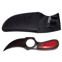 "6"" Short Skinner Knife with leather sheath."