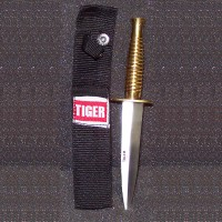 "7"" Brass Knife with sheath"