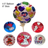 Balloon Mylar - Non Latex Auto 48pc/box Assorted. Love/Hearts Assortment