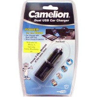 Camelion Dual USB Cell Phone car charger for 2 USB devices with pins & USB cable for iPhone4, Gallaxy & Blackberry LOWEST $5.99