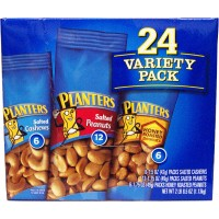 Planters Variety Pack Cashews/Honey Roasted Peanuts/ Salted Peanuts 24pk
