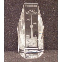 "Crystal Toronto 5"" vertical in Gift box LOWEST $5.99"